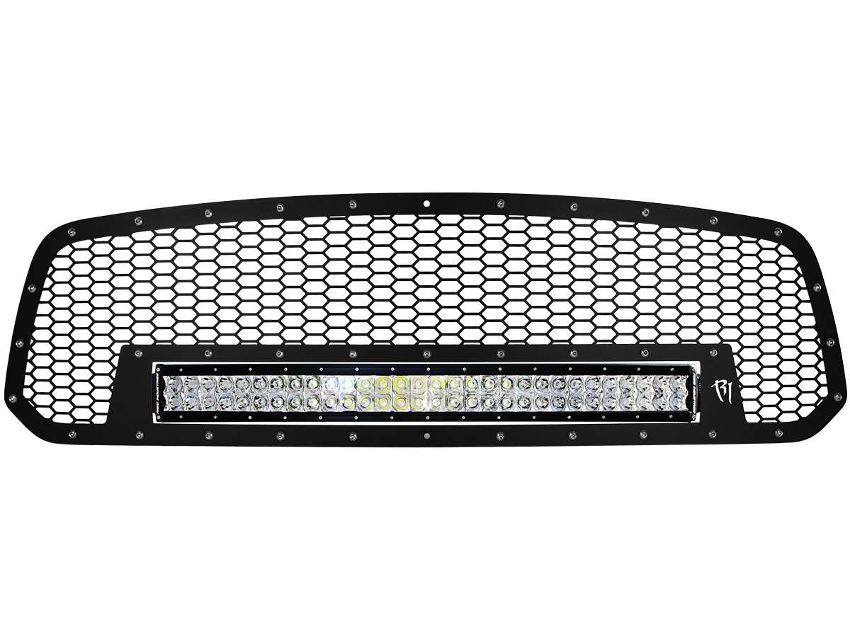 Rigid industries dodge ram grille with 30 rds led light bar aloadofball