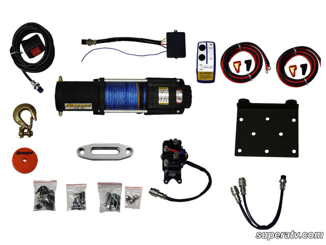atv 4500 lb synthetic rope atv winch with wireless remote