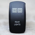 Carling Technologies Contura LED Backlit Rocker Switch- Rear Lights