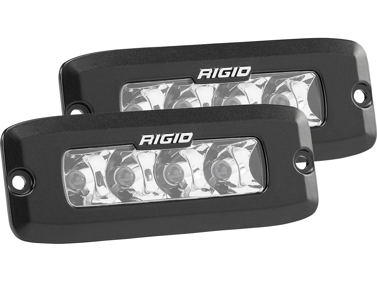 rigid industries sr  series pro flush mount led light spot pair