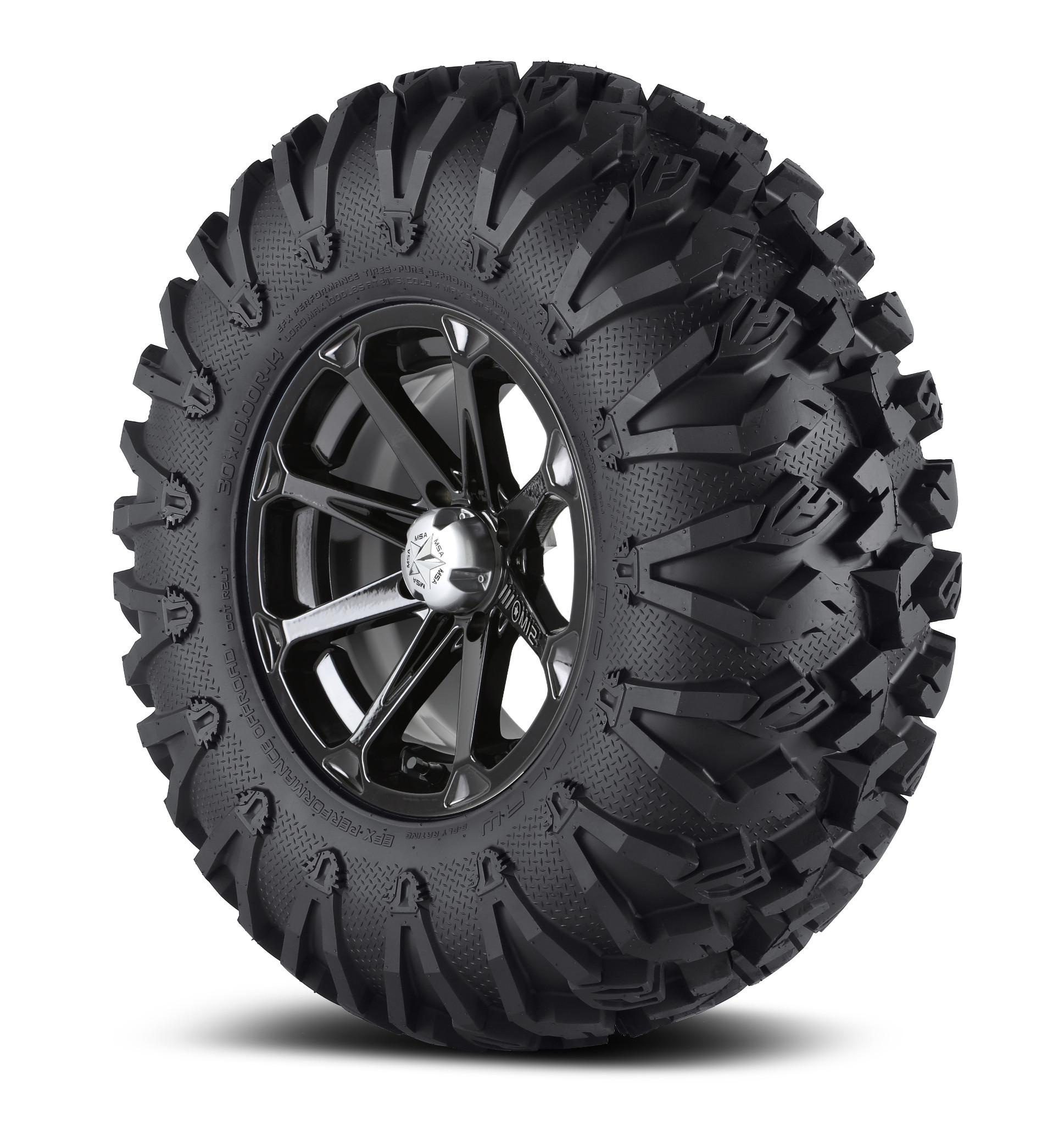 msa 18x7 m12 diesel wheel and efx 33 moto claw tire dark tint kit. Black Bedroom Furniture Sets. Home Design Ideas