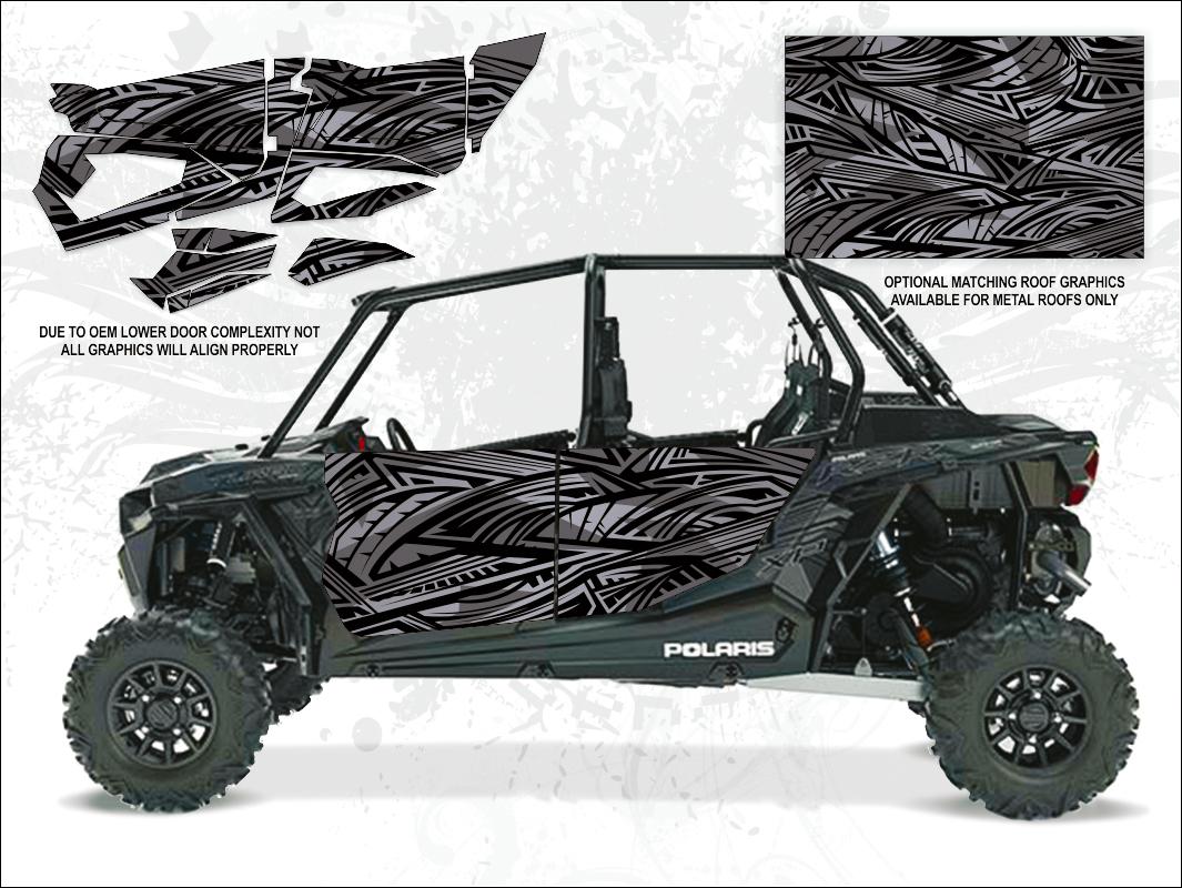 wolf designs polaris 2017 rzr xp4 turbo titanium matte metallic