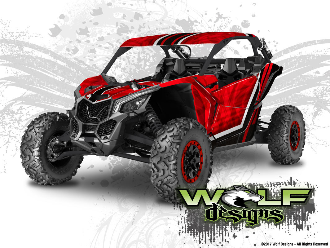 Wolf Designs Utv Wraps Wd Mx3 005 Can Am Maverick X3