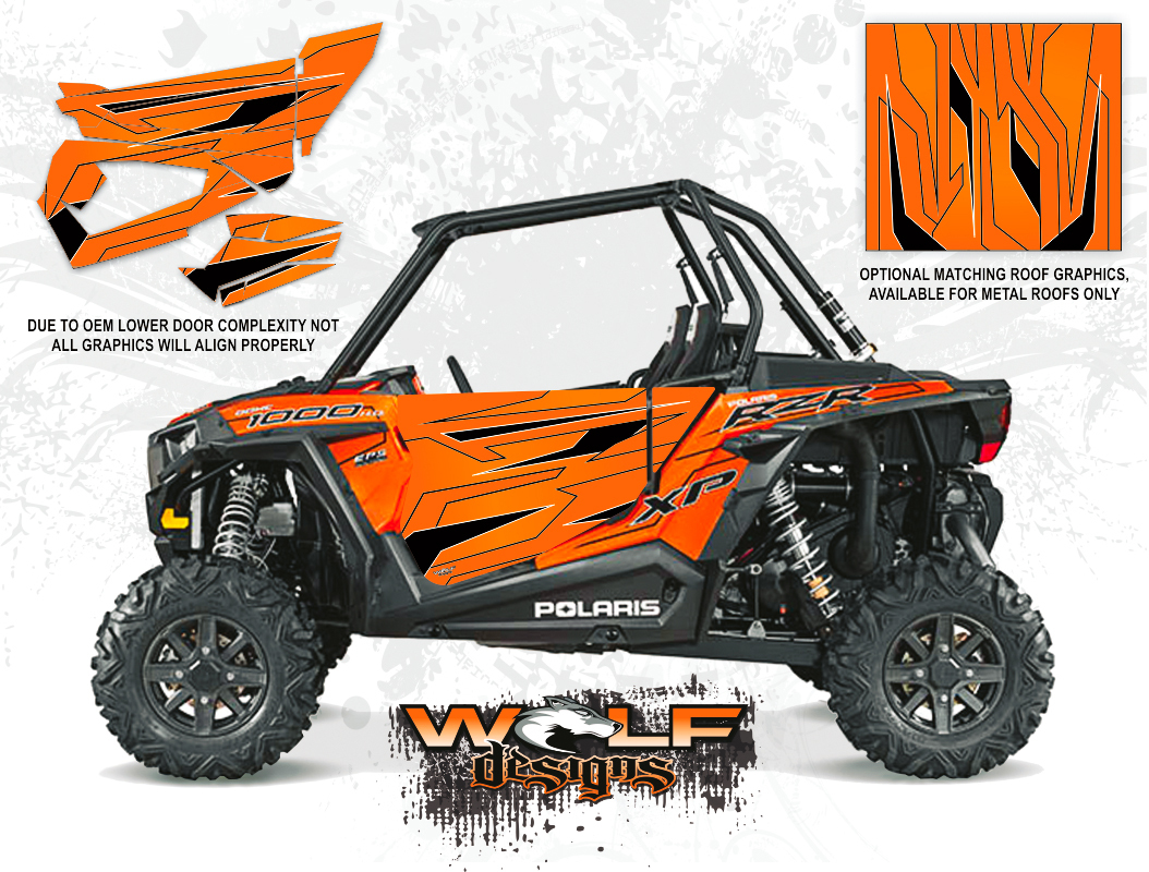 Wolf Designs Polaris 2015 Rzr Xp1000 Orange Madness Door