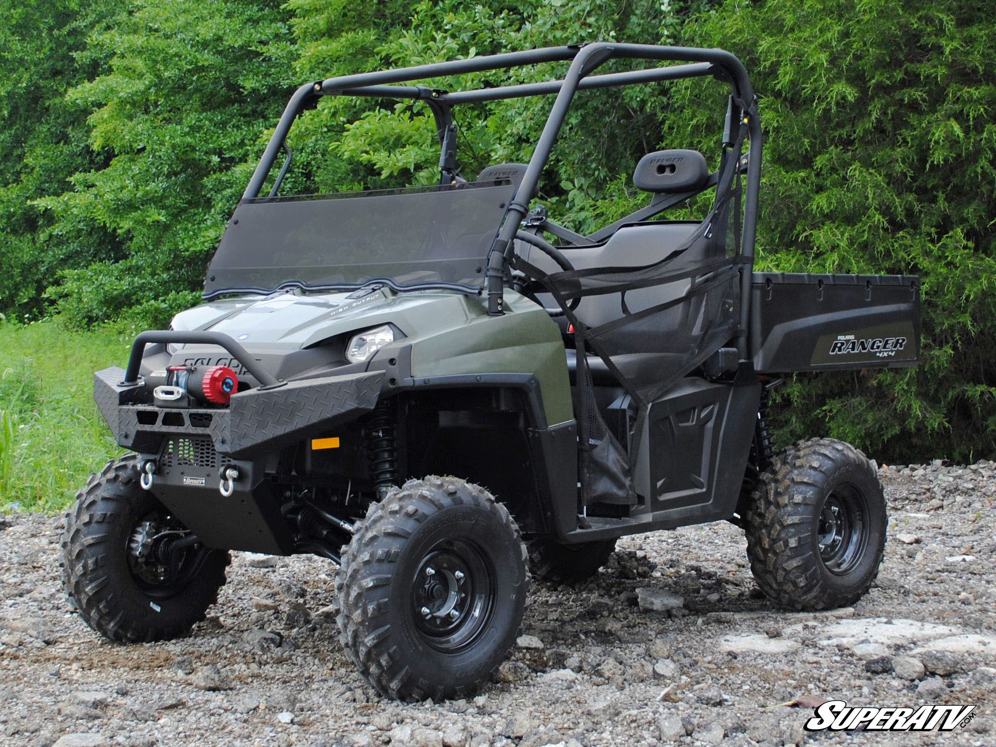 superatv polaris ranger xp 500 700 800 half windshield. Black Bedroom Furniture Sets. Home Design Ideas