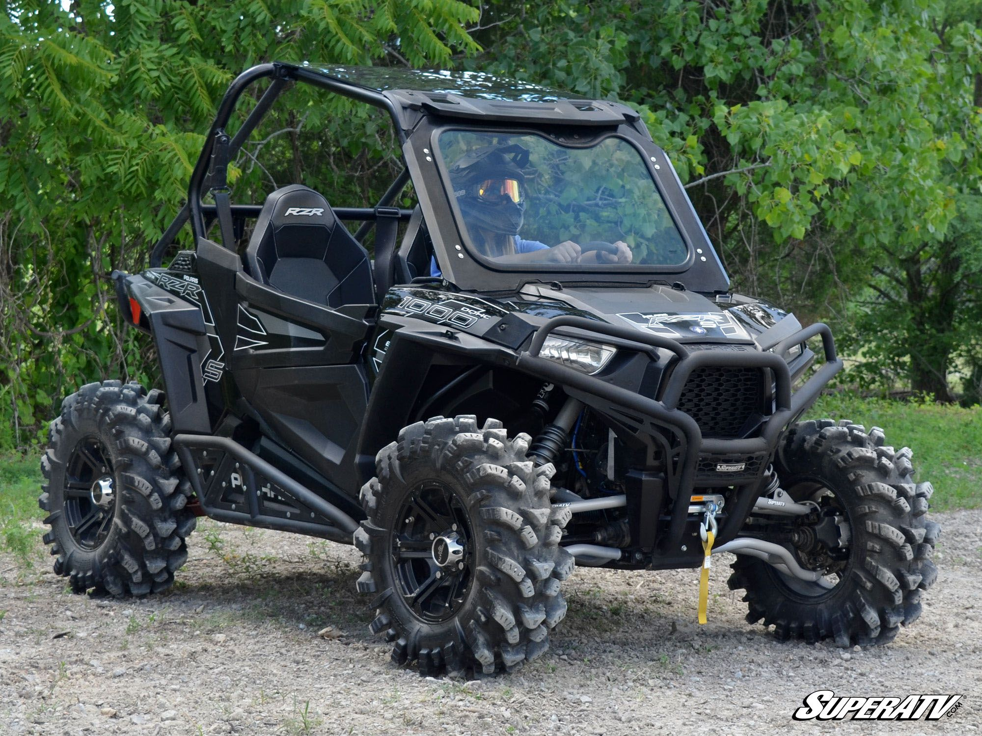 superatv polaris rzr 900 1000 glass windshield. Black Bedroom Furniture Sets. Home Design Ideas