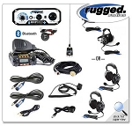 Rugged Radios RRP660 PLUS 2-Place Intercom with 25 Watt Radio and BTU/OTU Headsets