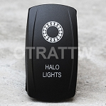 Carling Technologies Contura LED Backlit Rocker Switch- Halo Lights