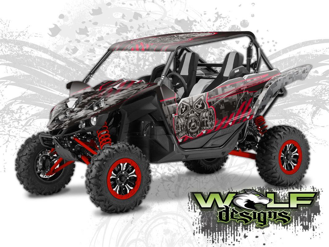 Wolf designs utv wraps wd yh2b 003 ss yamaha yxz1000r for New yamaha utv