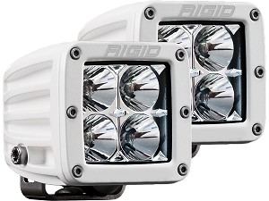 Rigid Industries Marine Series Dually D-Series PRO LED Light - Flood - Pair
