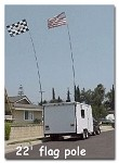 Safeglo Whips 22' Telescoping RV Flagpole/Camp Locator