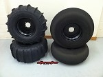 "Sand Tires Unlimited STU 26"" Blaster / Douglas Wheels Performance UTV Sand Paddle Tire Kit"