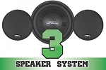 SSV Works Polaris RZR/RZR-3 Complete 3 Speaker System