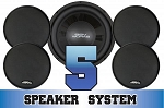 SSV Works Polaris RZR and RZR-S Complete 5 Speaker System