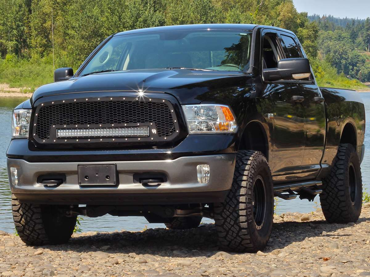 Rigid industries dodge ram grille with 30 rds led light bar aloadofball Gallery