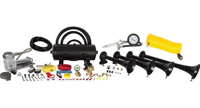 Hornblasters Conductor Special 238A Train Horn Kit w/ Coil Hose & Tire  Inflation Gun