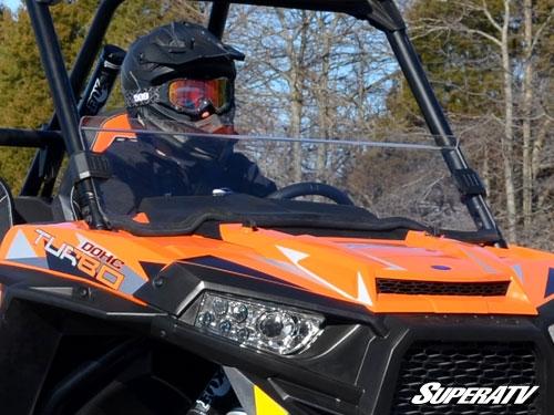 Polaris Rzr 1000 Windshield >> Superatv Polaris Rzr 900 1000 Turbo Half Windshield