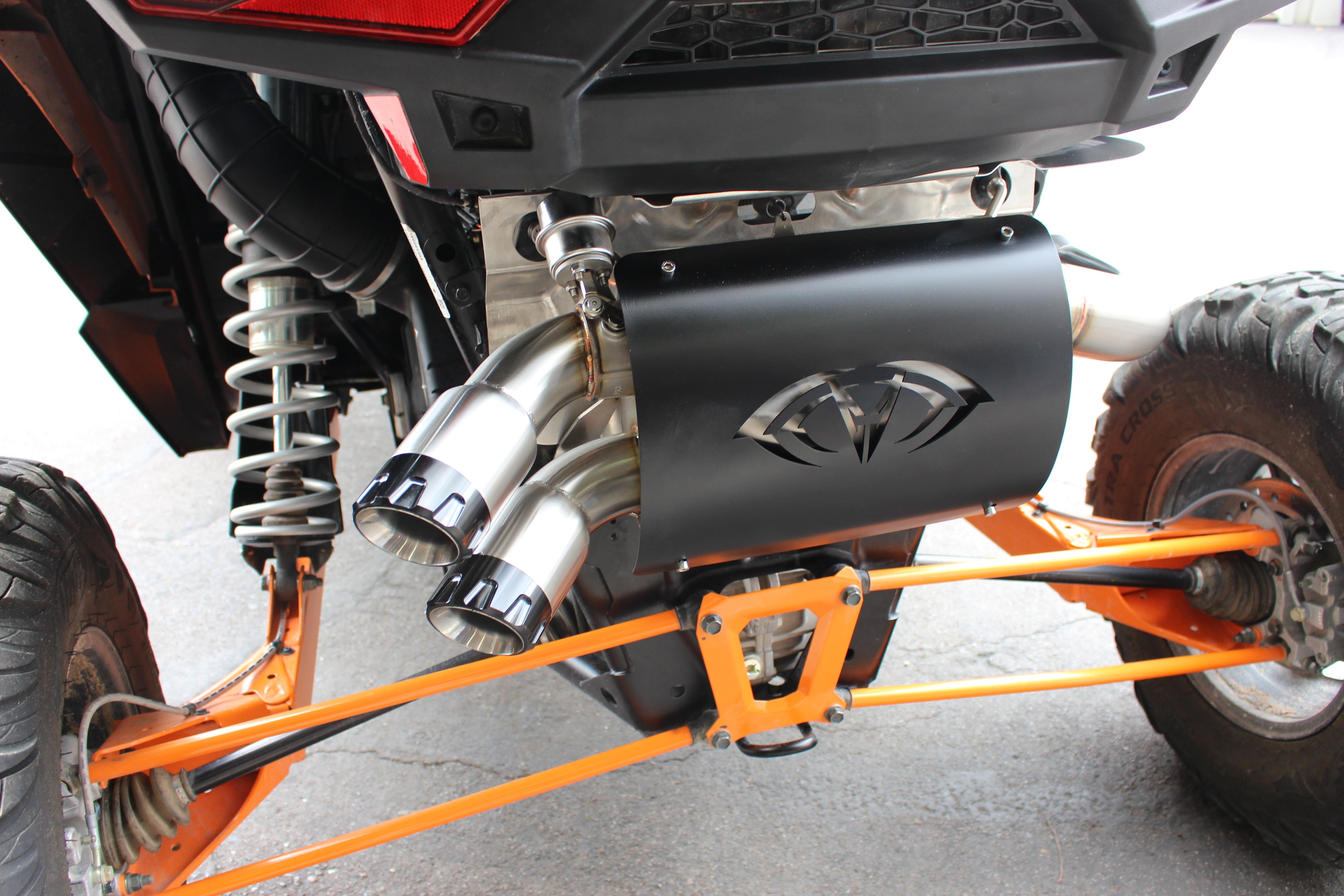 evolution powersports rzr xp turbo captains choice  turbo  cut  exhaust