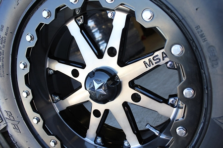 14x7//4x137mm MSA M21 Lok Beadlok Charcoal Clear Wheel with Gloss Black Machined