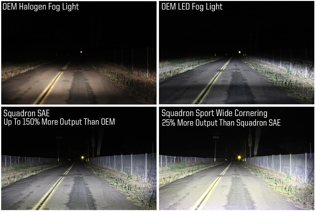 Baja Designs Squadron PRO ATV LED Light Wide Cornering Pattern