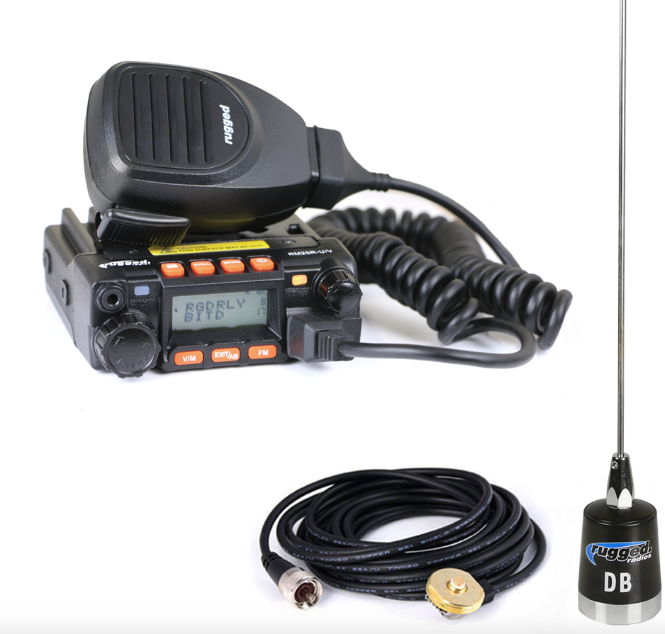 Rugged Radios RRP660 2-Person Intercom with 25 Watt Radio and BTU/OTU  Headsets