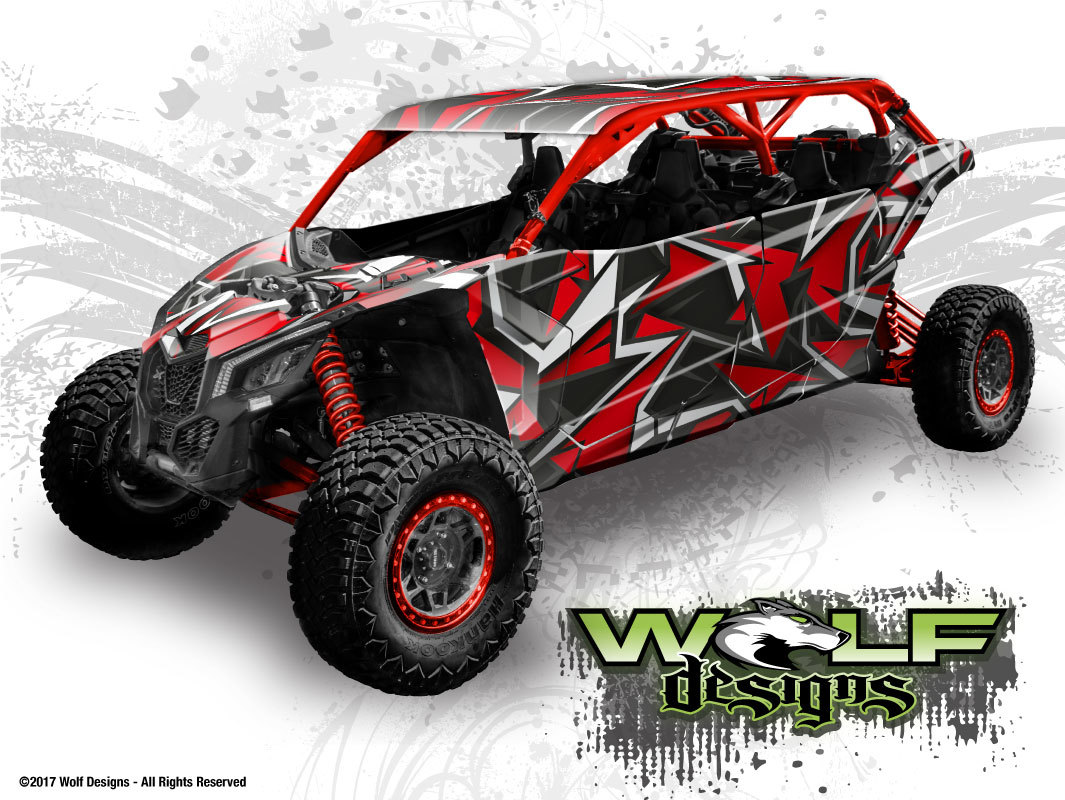 Wolf Designs Utv Wraps Wd Mx3 Max 004 Can Am Maverick X3