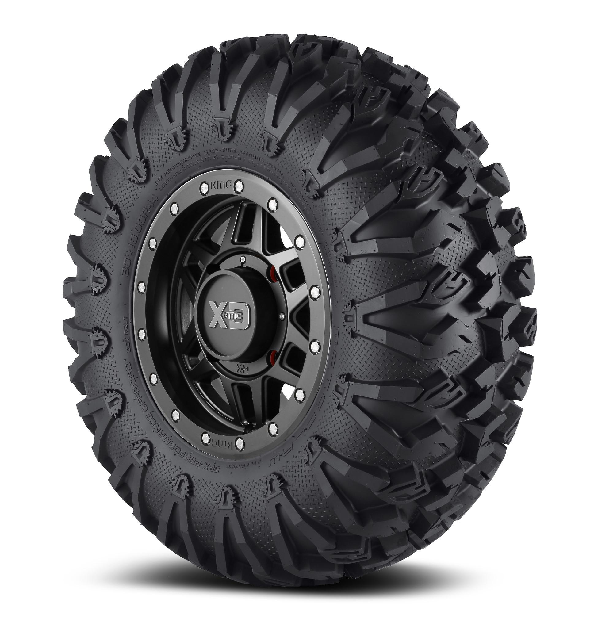 "KMC 14x7 XS228 Machete Wheel and EFX 32"" Moto Claw Tire ..."