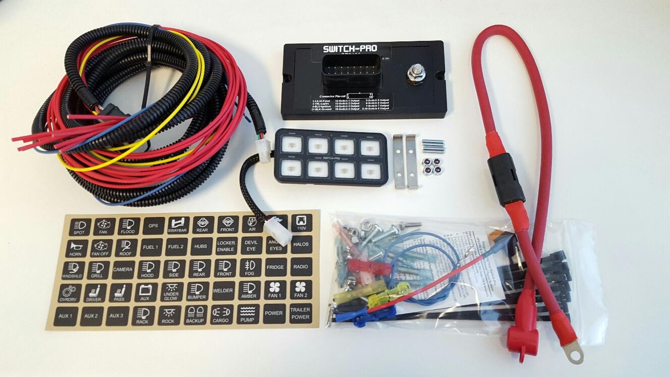 Switch Pros Sp 9100 Panel Bluetooth Power System Flush Bezel Race Car Wiring Mount