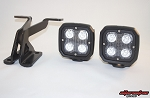 Alternative Offroad Ford F-150 & Raptor Hood Mount Light Brackets & VisionX DuraLux Xtreme Light Package