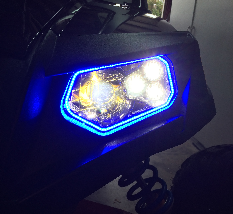 Tric Led Tricrings Polaris Rzr 800 Xp900 Led Headlight