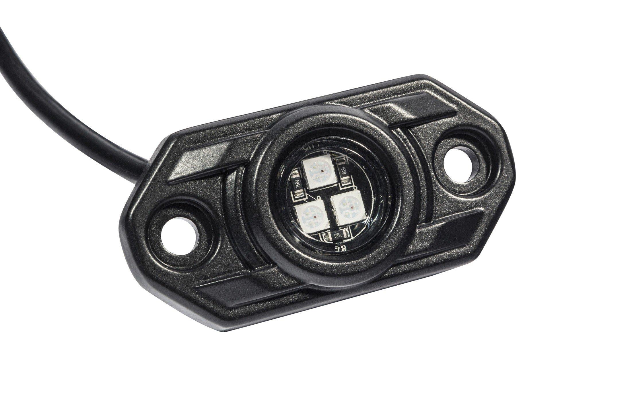 Kc Hilites C Series Rgb Led Rock Light Kit 6 Pc 339 Wiring Harness