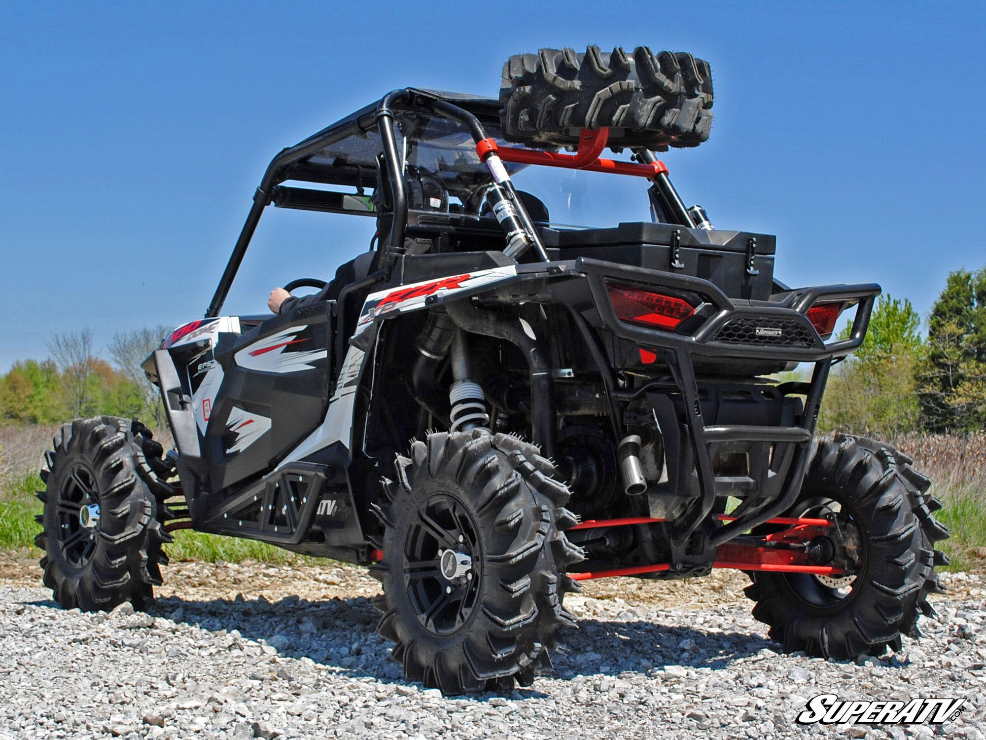 Super Atv Polaris Rzr 1000 Spare Tire Carrier