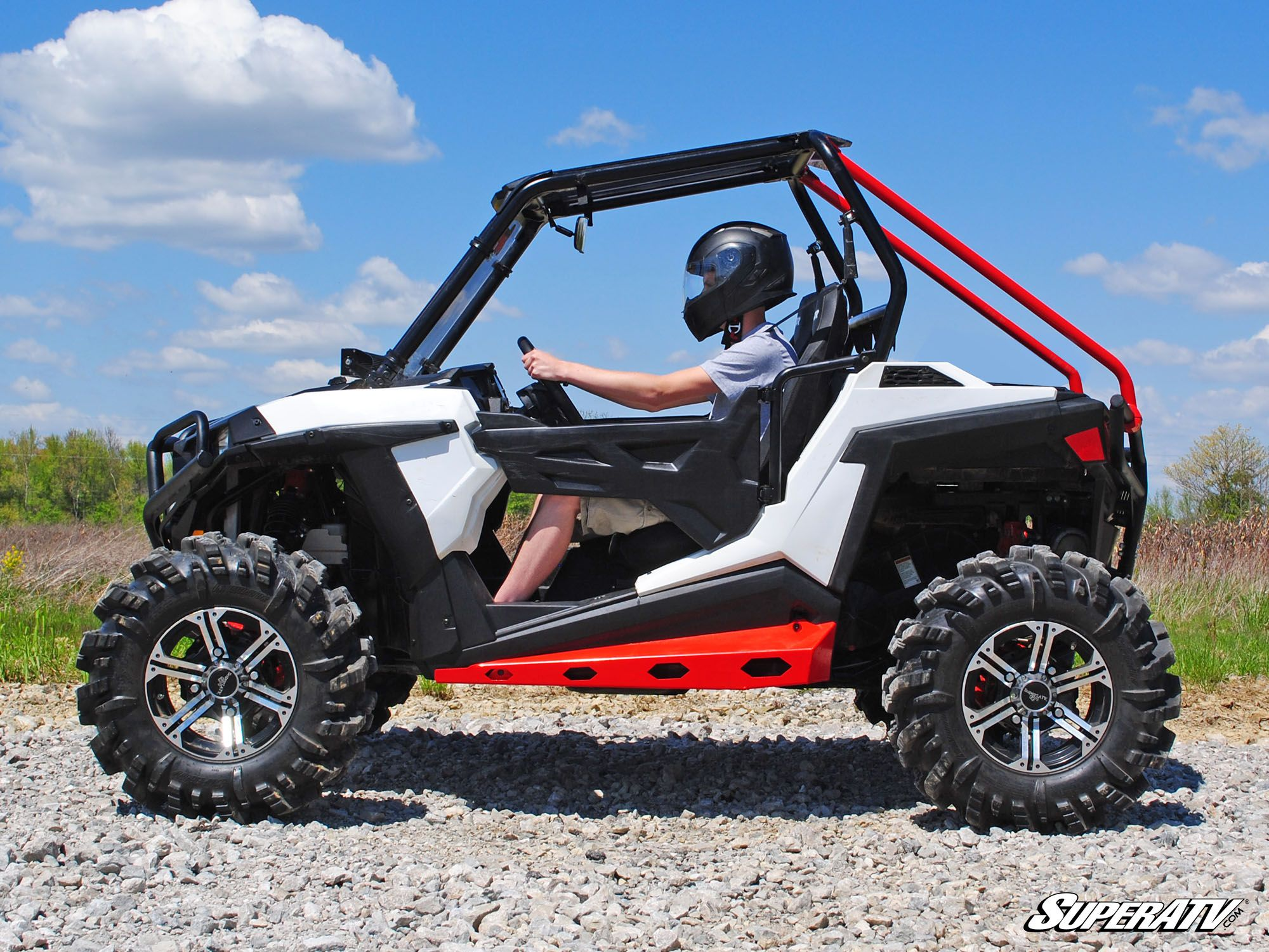 super atv polaris rzr 900 1000 heavy duty rock sliders. Black Bedroom Furniture Sets. Home Design Ideas
