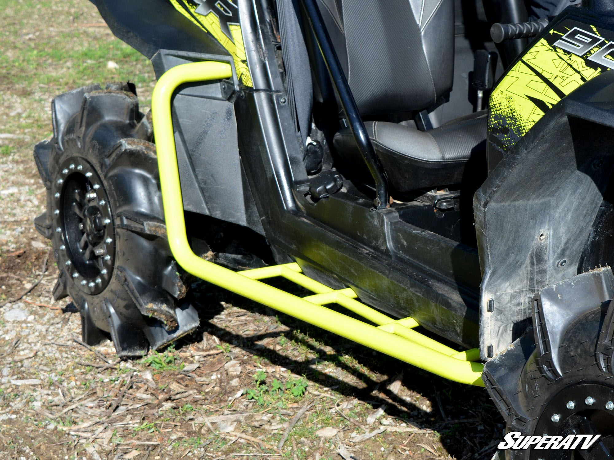 Super ATV Polaris RZR XP 900 Heavy Duty Rock Sliding Nerf