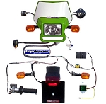 Baja Designs Dual Sport Kit, EZ Mount Kick Enduro, Green