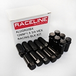 Raceline Racing Lug Nuts- 16 Pack (Black)