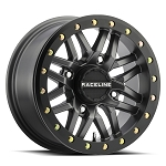 Raceline Wheels A91 Ryno Beadlock UTV Wheel- Gunmetal Grey