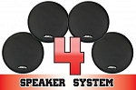 SSV Works Polaris RZR and RZR-S Complete 4 Speaker System