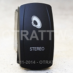Carling Technologies Contura LED Backlit Rocker Switch- Stereo