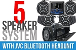 SSV Works 2014-2018 Polaris RZR XP1000/Turbo Complete 5-Speaker Plug & Play Stereo Kit with JVC Headunit
