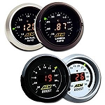 AEM 2 Gauge Display Set - UEGO WideBand A/F Ratio Gauge + Boost Pressure Gauge