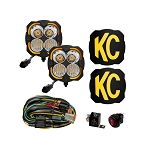 KC HiLites Flex Era 4 - 80W Combo Beam Pattern- 2 Light System