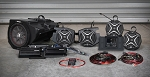 SSV Works 2019+ Polaris RZR XP1000/Turbo Complete 5-Speaker Plug & Play Stereo Kit with JVC Headunit