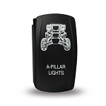 Carling Technologies Contura LED Backlit Rocker Switch- Pillar Lights
