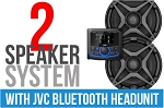 SSV Works Polaris RZR Pro XP Complete 2-Speaker Plug & Play Stereo Kit with JVC Headunit