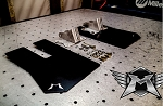 Madigan Motorsports Polaris RZR XP1000/Turbo Stock Trailing Arm Rear Mud Flap Kit