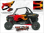 Wolf Designs Polaris 2017 RZR XP Turbo Cruiser Black Door Wrap Kit