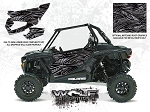 Wolf Designs Polaris 2017 RZR XP Turbo Titanium Matte Metallic Door Wrap Kit