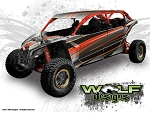 Wolf Designs UTV Wraps -  WD-MX3-MAX-002 CAN-AM Maverick X3 Max Wrap Kit