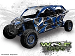 Wolf Designs UTV Wraps -  WD-MX3-MAX-004 CAN-AM Maverick X3 Max Wrap Kit